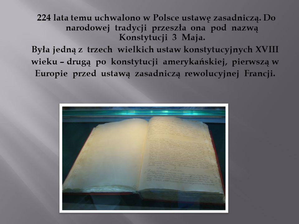 Była jedną z trzech wielkich ustaw konstytucyjnych XVIII