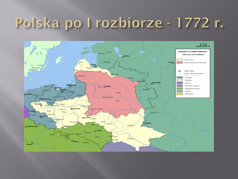 Polska po I rozbiorze - 1772 r.