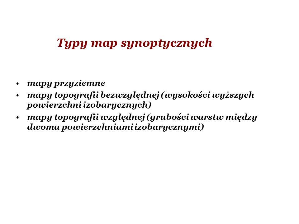 Typy map synoptycznych