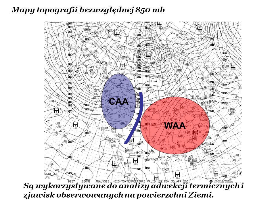 CAA WAA Mapy topografii bezwzględnej 850 mb
