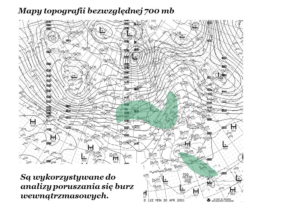 Mapy topografii bezwzględnej 700 mb