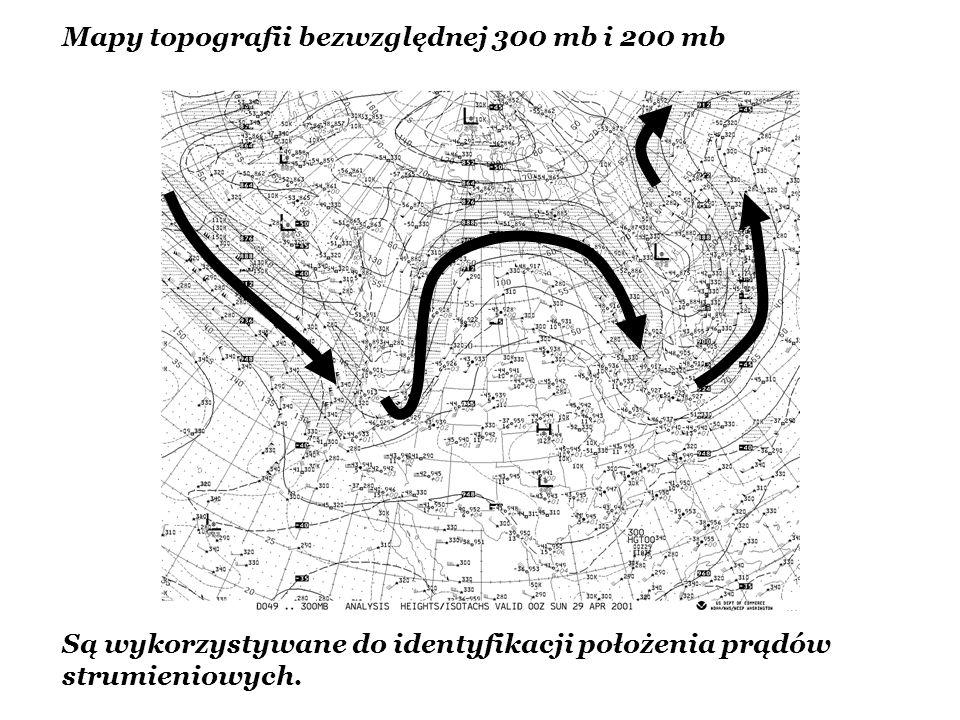 Mapy topografii bezwzględnej 300 mb i 200 mb