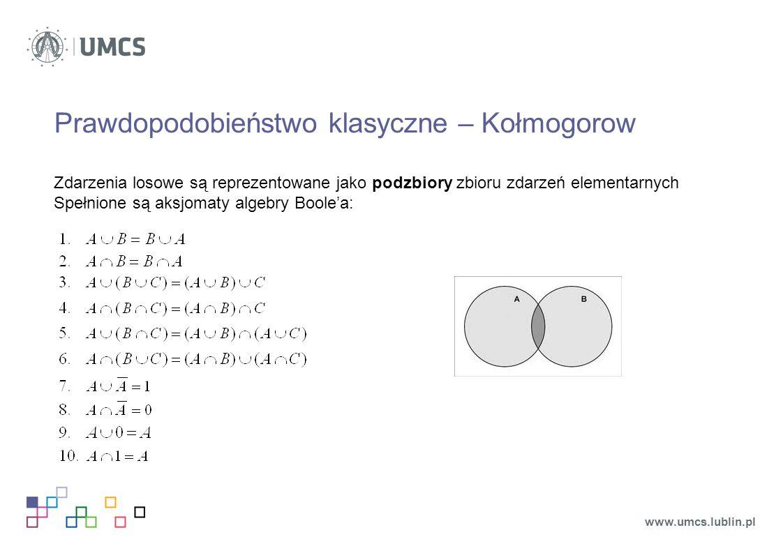 Prawdopodobieństwo klasyczne – Kołmogorow