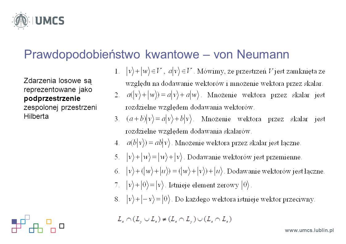 Prawdopodobieństwo kwantowe – von Neumann
