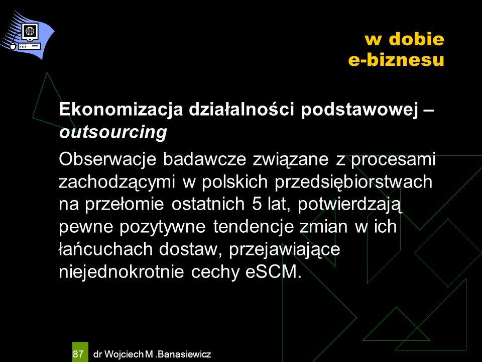 Ekonomizacja działalności podstawowej – outsourcing