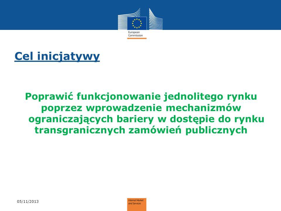 Cel inicjatywy Poprawić funkcjonowanie jednolitego rynku