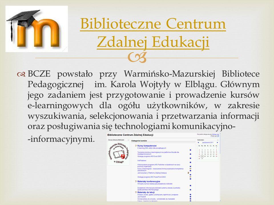 Biblioteczne Centrum Zdalnej Edukacji