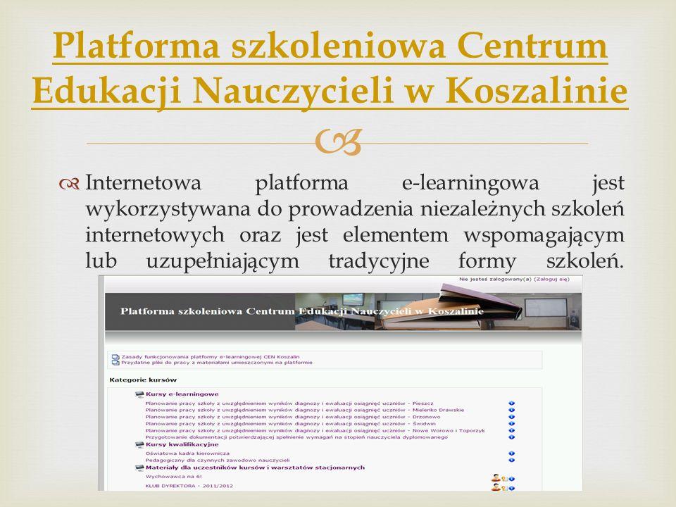 Platforma szkoleniowa Centrum Edukacji Nauczycieli w Koszalinie