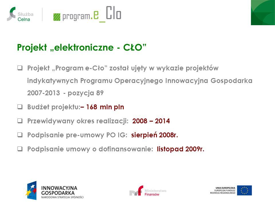 """Projekt """"elektroniczne - CŁO"""