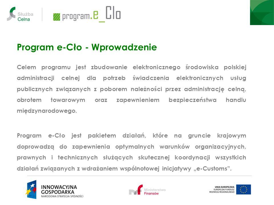 Program e-Cło - Wprowadzenie