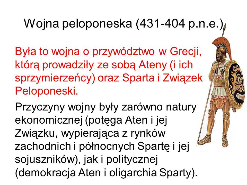 Wojna peloponeska (431-404 p.n.e.)