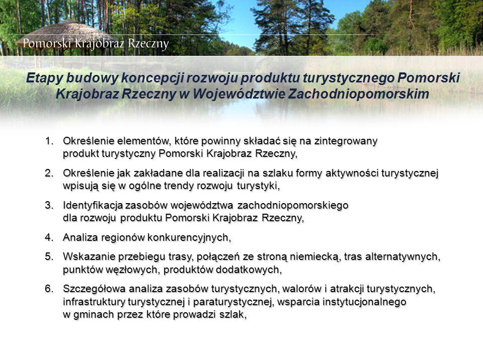 Etapy budowy koncepcji rozwoju produktu turystycznego Pomorski Krajobraz Rzeczny w Województwie Zachodniopomorskim