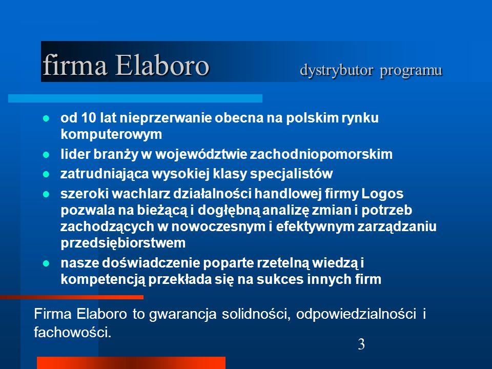 firma Elaboro dystrybutor programu