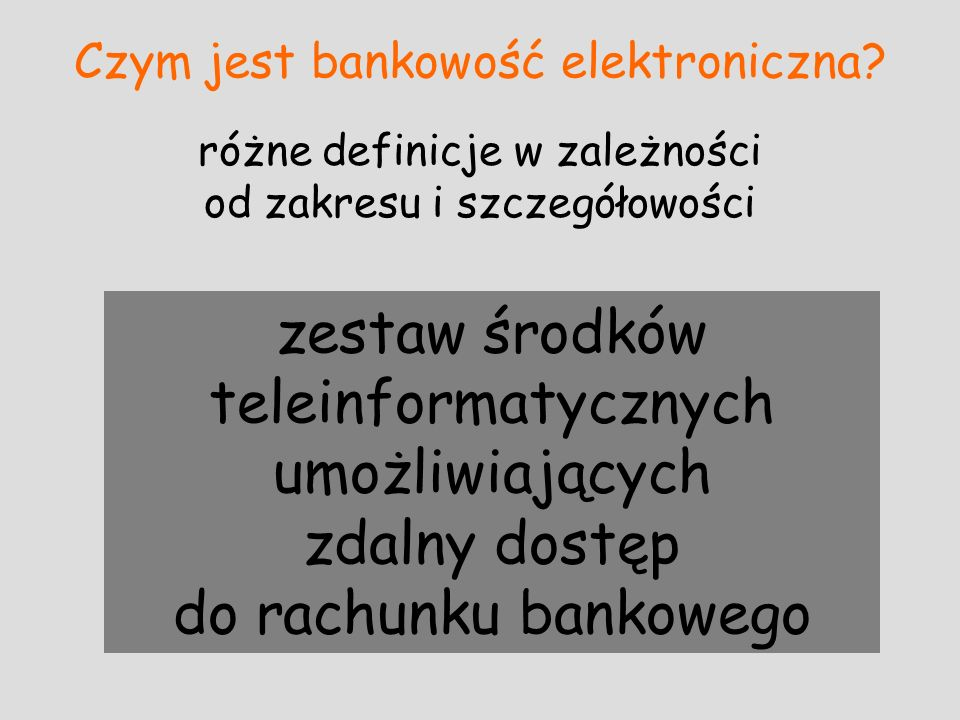 Czym jest bankowość elektroniczna