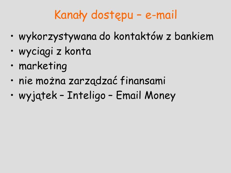 Kanały dostępu – e-mail