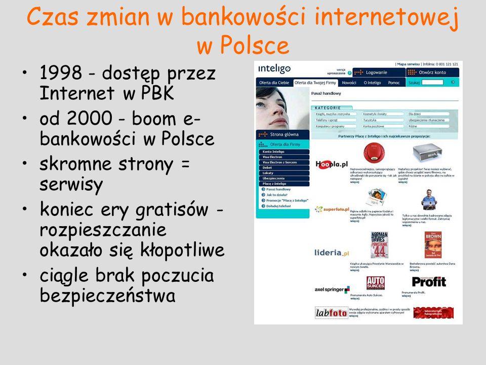 Czas zmian w bankowości internetowej w Polsce