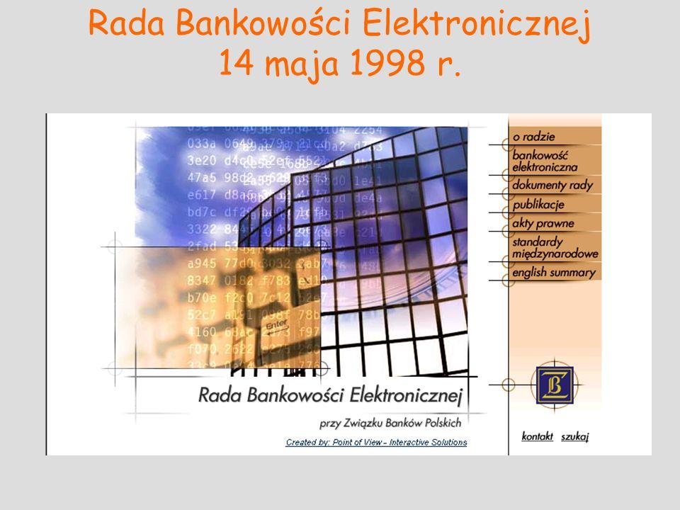 Rada Bankowości Elektronicznej 14 maja 1998 r.