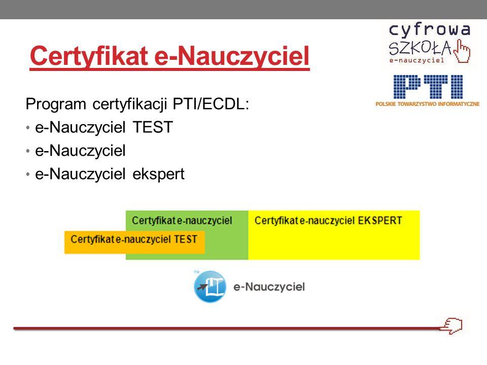Certyfikat e-Nauczyciel