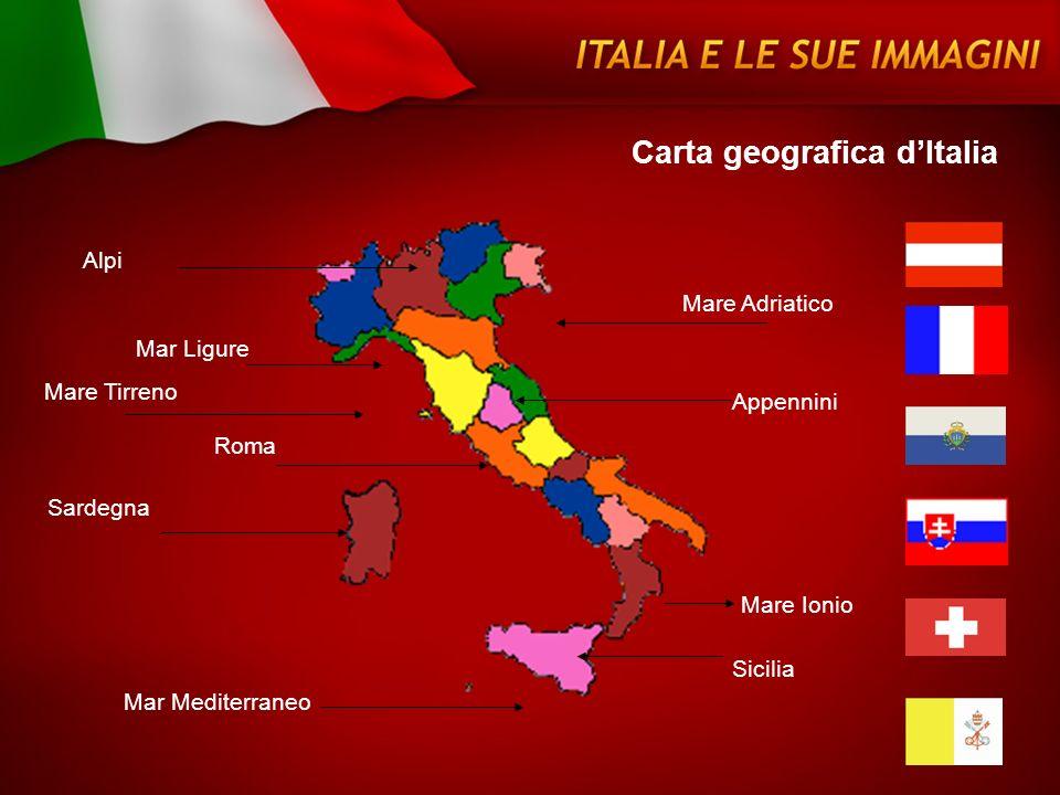 Carta geografica d'Italia