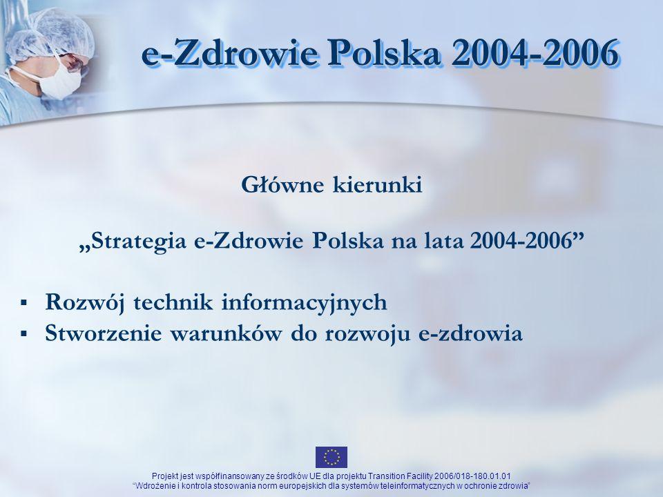 """""""Strategia e-Zdrowie Polska na lata 2004-2006"""