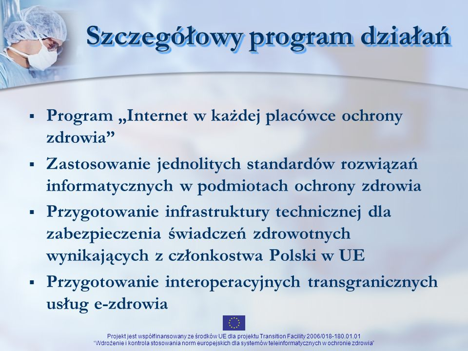 Szczegółowy program działań