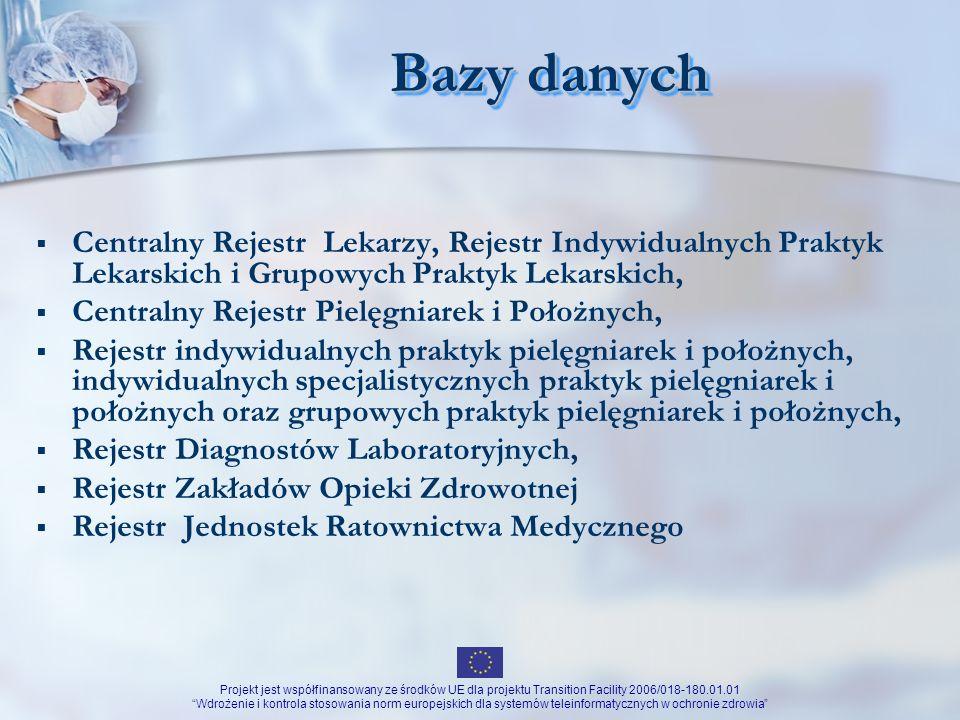Bazy danychCentralny Rejestr Lekarzy, Rejestr Indywidualnych Praktyk Lekarskich i Grupowych Praktyk Lekarskich,
