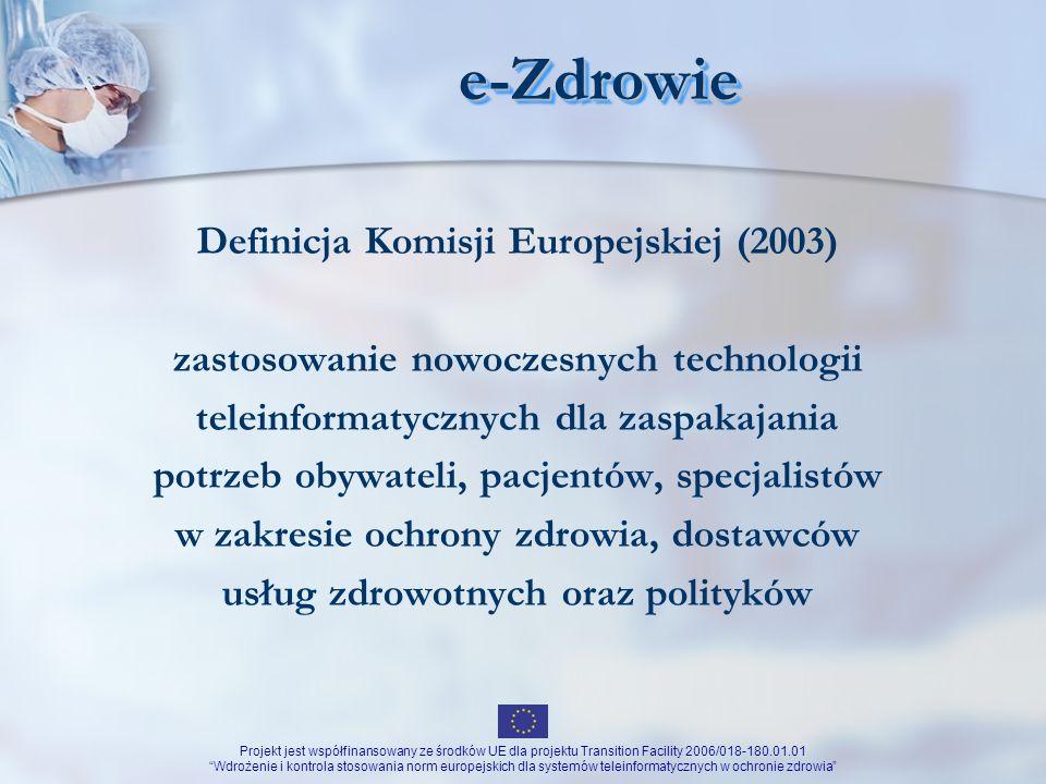 e-Zdrowie Definicja Komisji Europejskiej (2003)