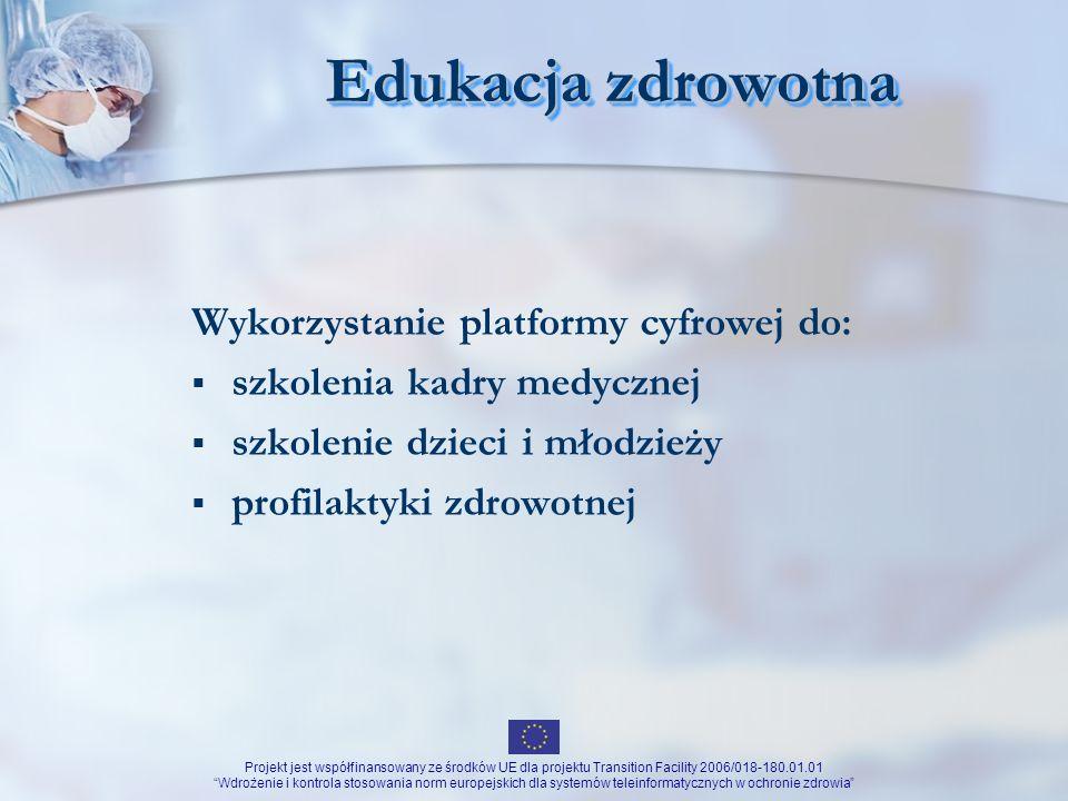 Edukacja zdrowotna Wykorzystanie platformy cyfrowej do: