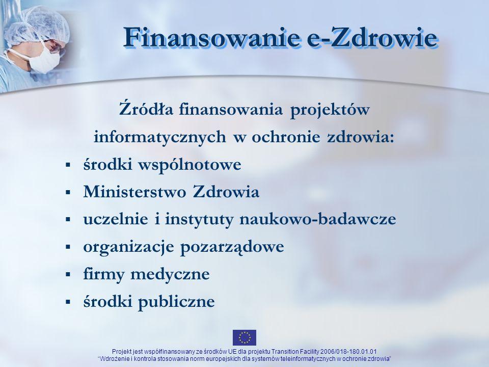 Finansowanie e-Zdrowie