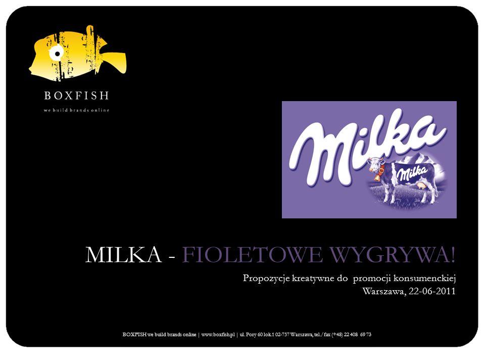 MILKA - FIOLETOWE WYGRYWA!