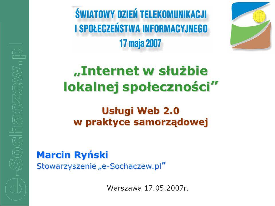 """""""Internet w służbie lokalnej społeczności"""