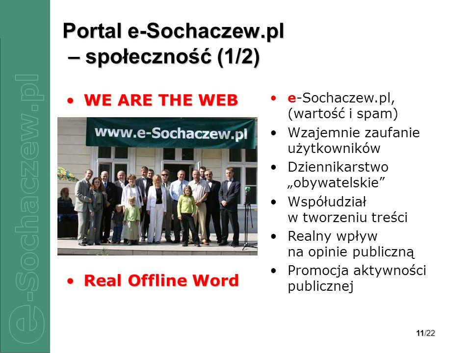 Portal e-Sochaczew.pl – społeczność (1/2)