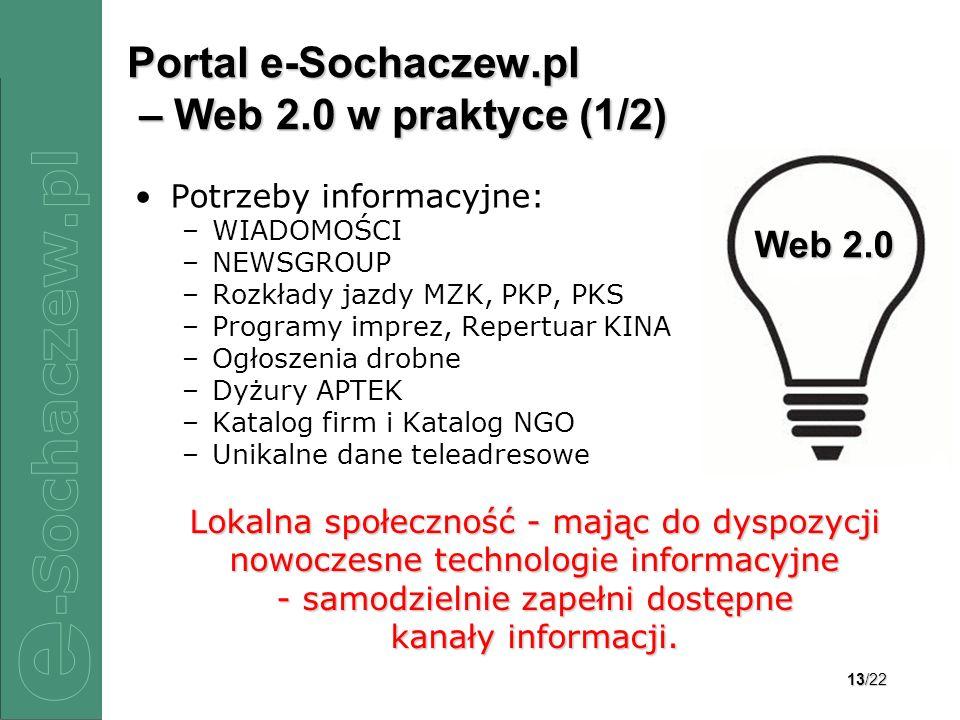 Portal e-Sochaczew.pl – Web 2.0 w praktyce (1/2)