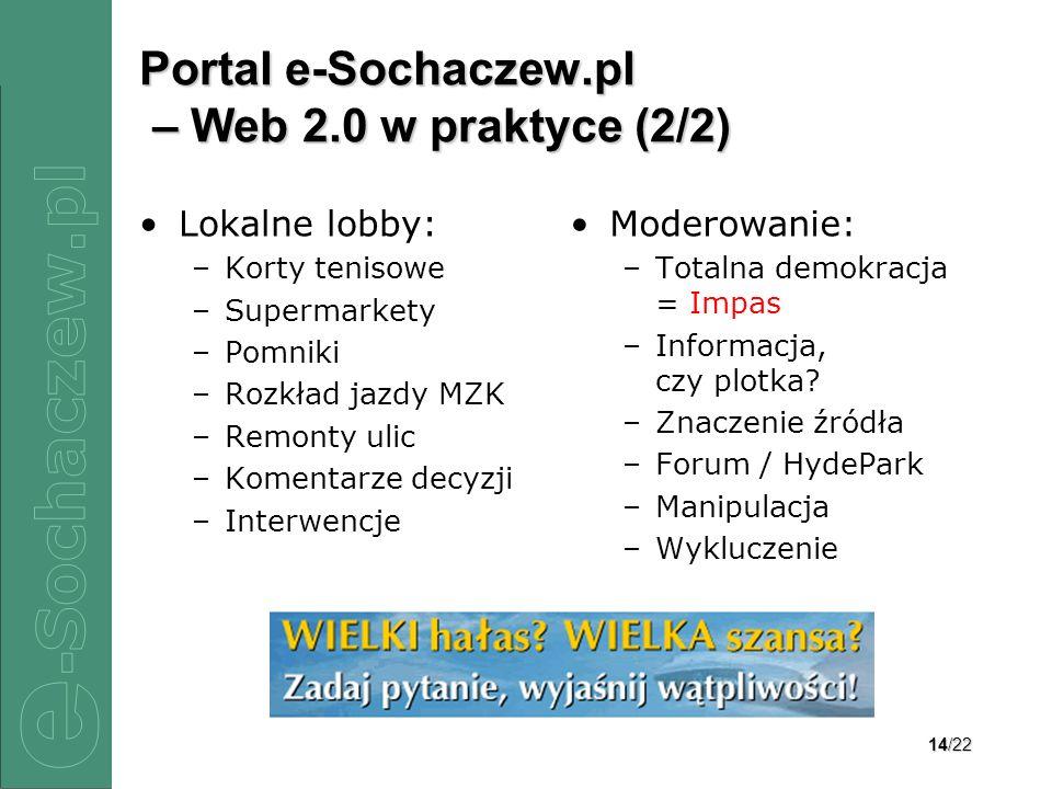 Portal e-Sochaczew.pl – Web 2.0 w praktyce (2/2)