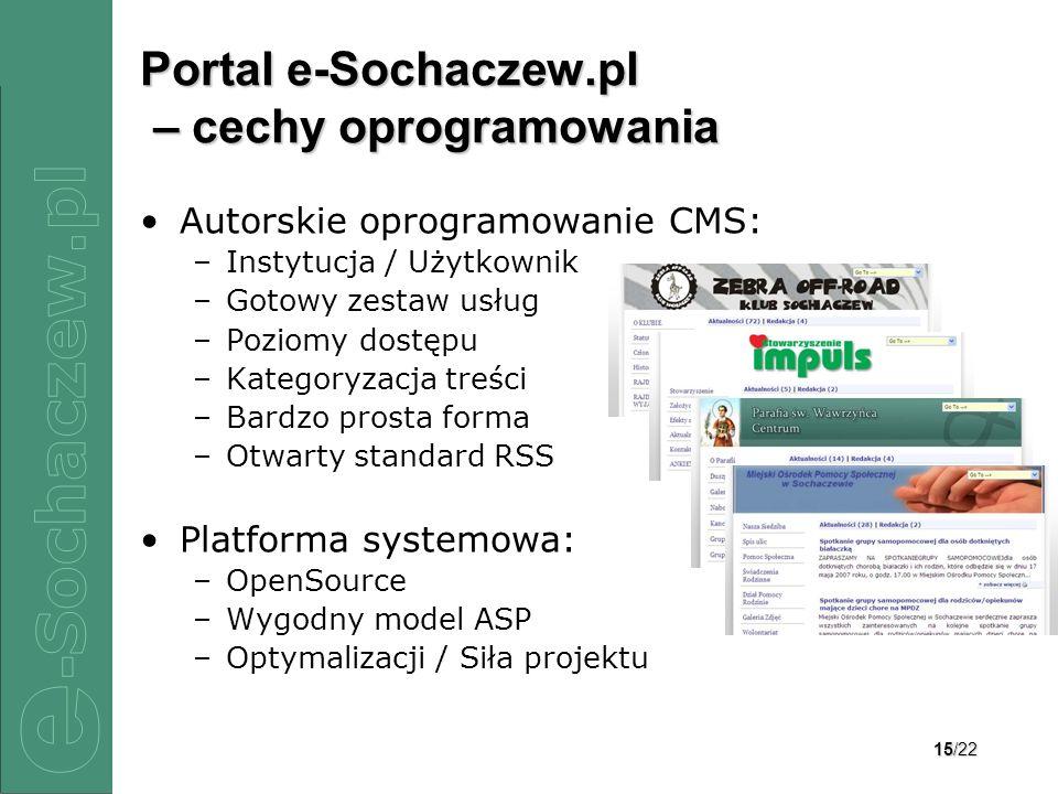 Portal e-Sochaczew.pl – cechy oprogramowania