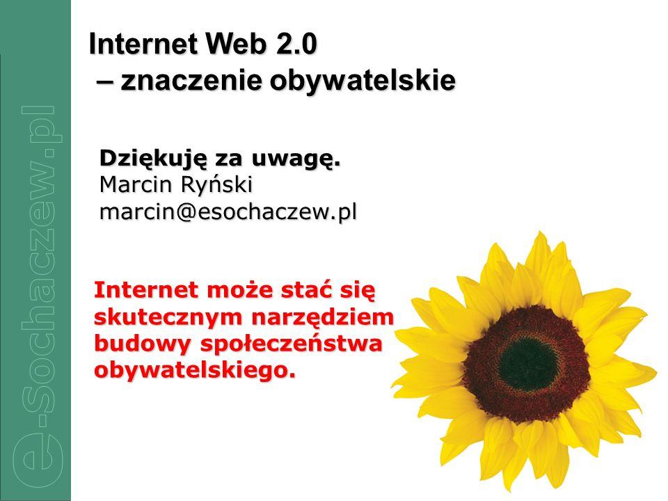 Internet Web 2.0 – znaczenie obywatelskie