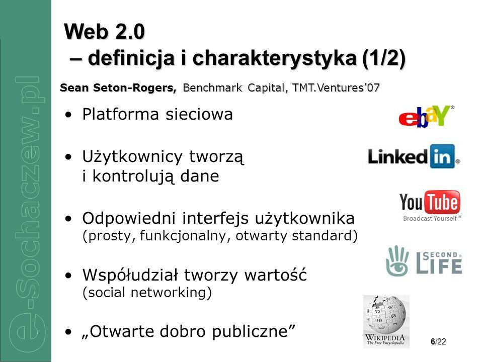 Web 2.0 – definicja i charakterystyka (1/2)
