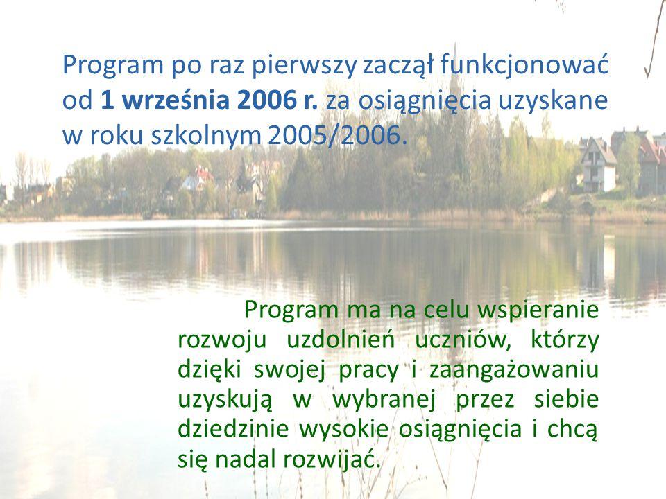 Program po raz pierwszy zaczął funkcjonować od 1 września 2006 r