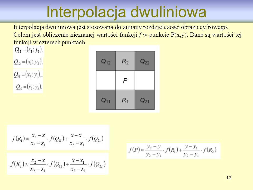 Interpolacja dwuliniowa