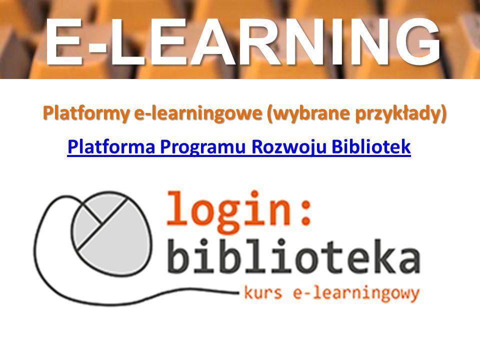 Platformy e-learningowe (wybrane przykłady)