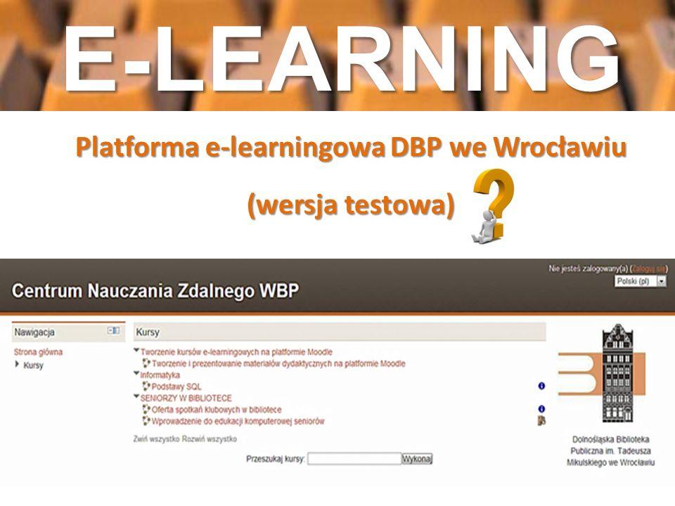 Platforma e-learningowa DBP we Wrocławiu (wersja testowa)
