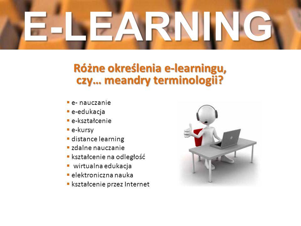 Różne określenia e-learningu, czy… meandry terminologii