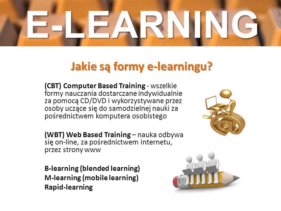 Jakie są formy e-learningu