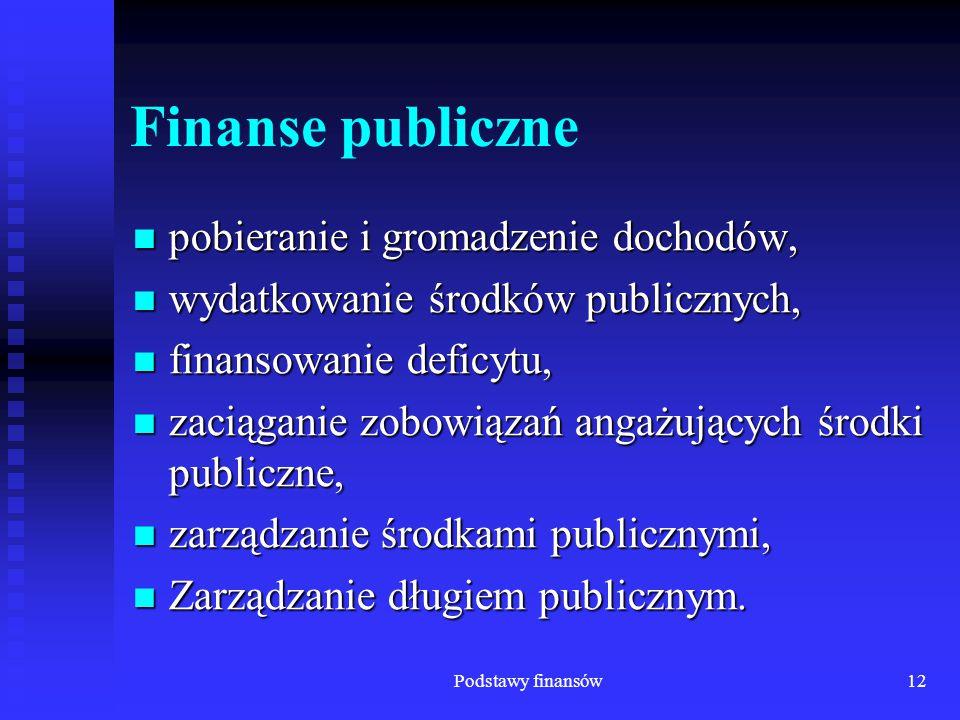 Finanse publiczne pobieranie i gromadzenie dochodów,