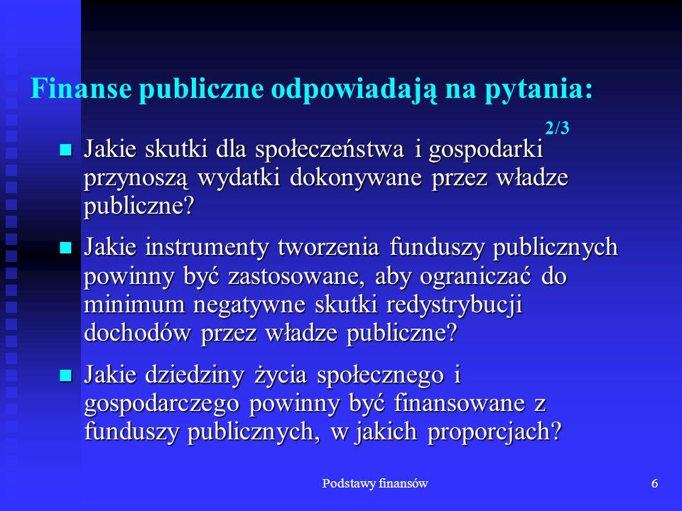 Finanse publiczne odpowiadają na pytania: 2/3