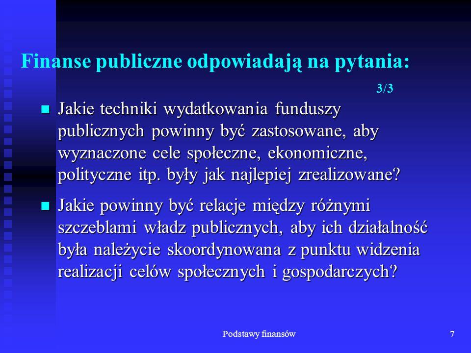 Finanse publiczne odpowiadają na pytania: 3/3