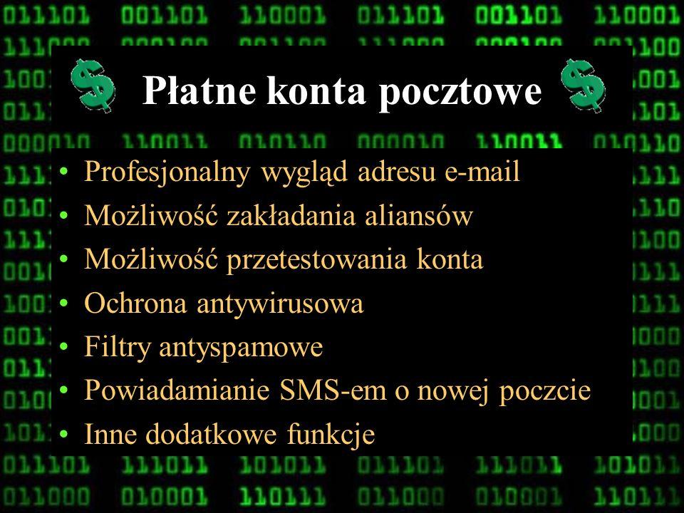 Płatne konta pocztowe Profesjonalny wygląd adresu e-mail