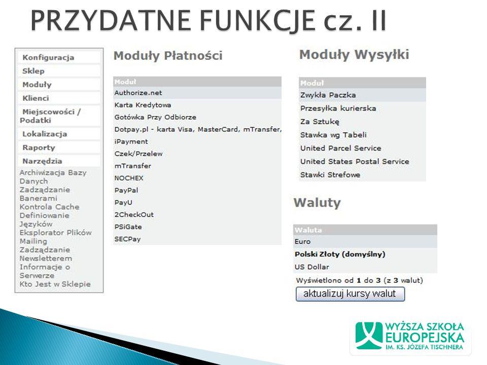 PRZYDATNE FUNKCJE cz. II