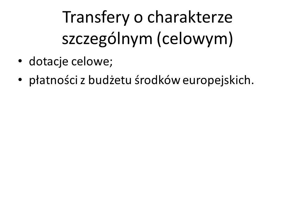 Transfery o charakterze szczególnym (celowym)