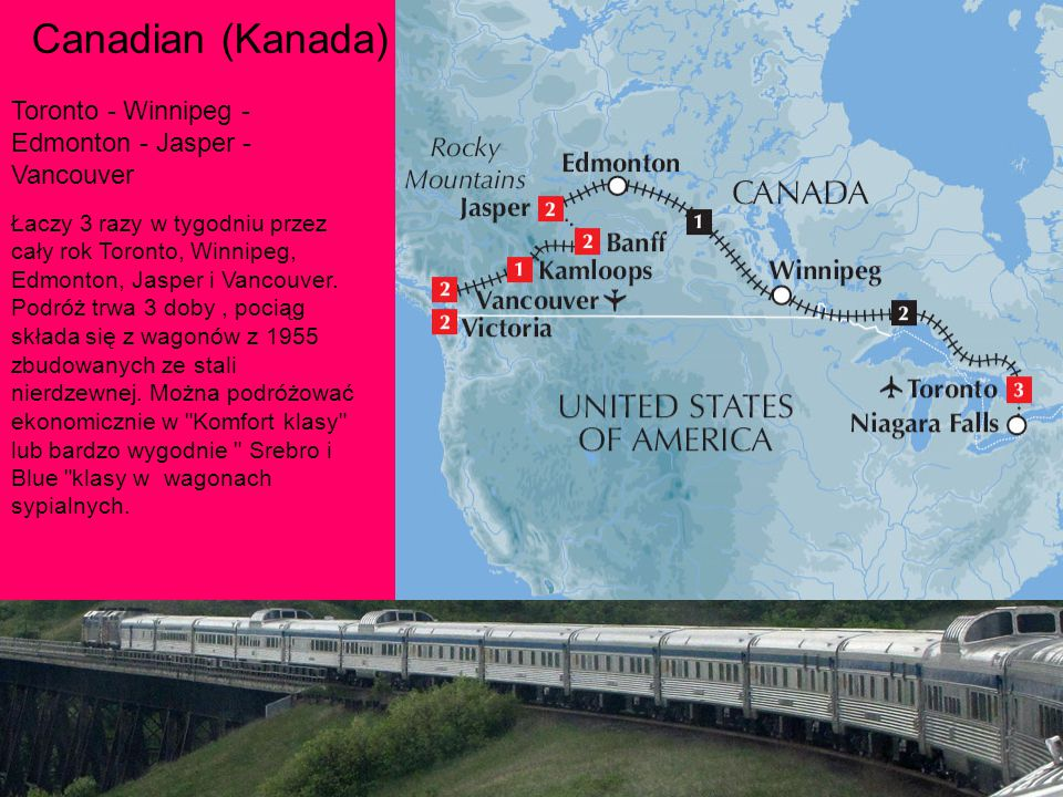 Canadian (Kanada) Toronto - Winnipeg - Edmonton - Jasper - Vancouver